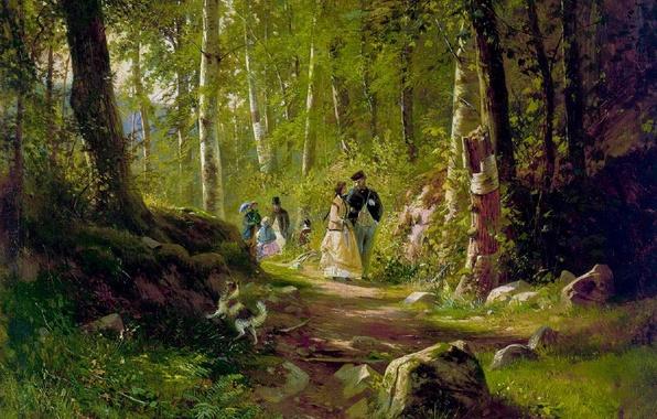 Картинка картина, Шишкин, В лесу
