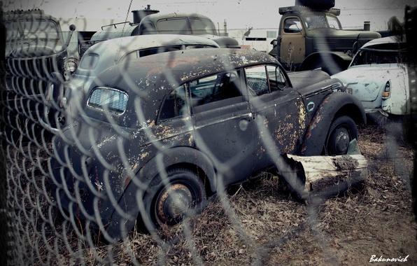 Картинка машины, ретро, странина