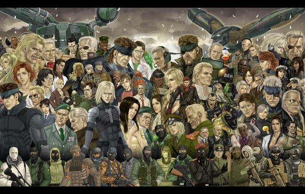 Картинка wallpaper, art, Solid Snake, Metal Gear Solid, Raiden, Jack the Ripper, Naked Snake, The Boss, …
