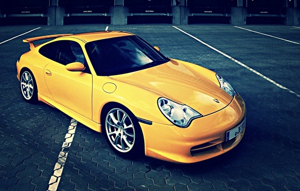 Картинка 911, porsche, желтая