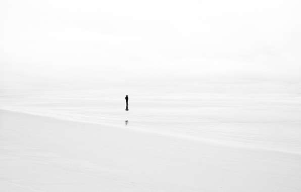 Картинка туман, фон, человек