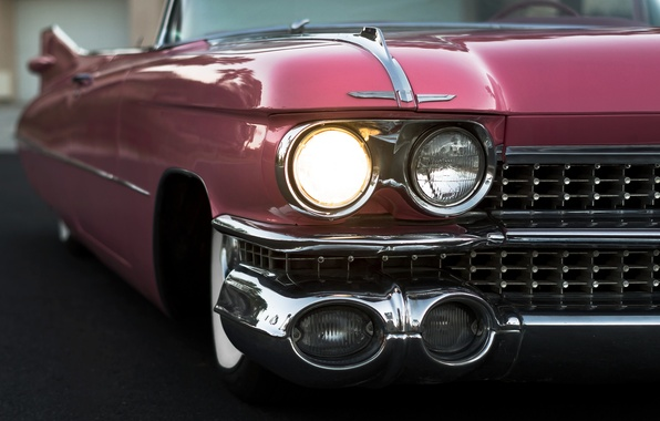 Картинка ретро, фары, кабриолет, 1959, Cadillac Convertible