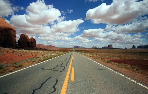 Картинка дорога, пейзаж, United States, Utah, Goulding