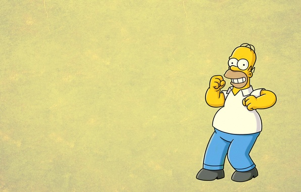 Фото обои улыбка, Симпсоны, гомер, homer, The Simpsons