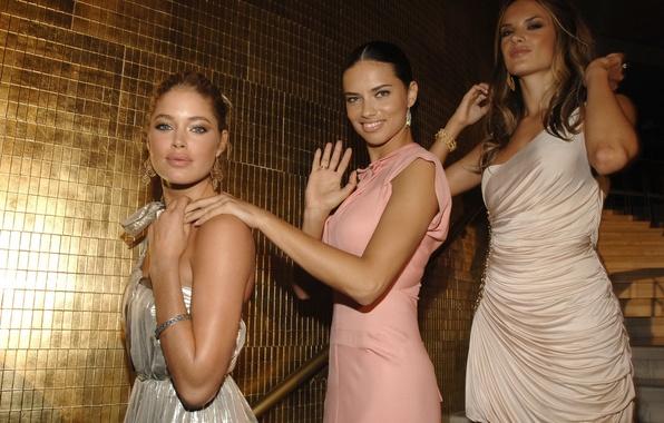 Картинка девушки, Doutzen Kroes, Адриана Лима, лестница, Adriana Lima, ступеньки, Alessandra Ambrosio, Алессандра Амброзио, модели, красавицы, …