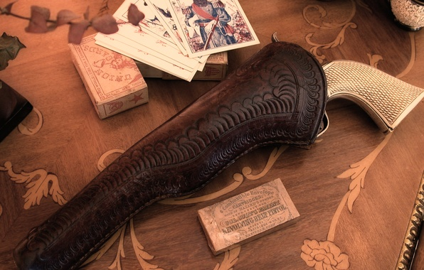 Картинка карты, оружие, револьвер, ковбои, кабура, былое