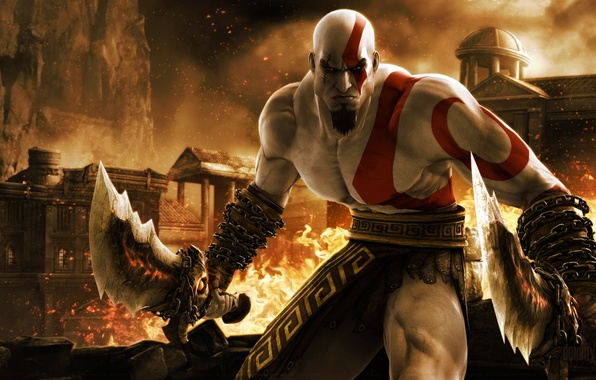 Картинка игра, game, кратос, kratos, бог войны, ps3, God of War Ascension