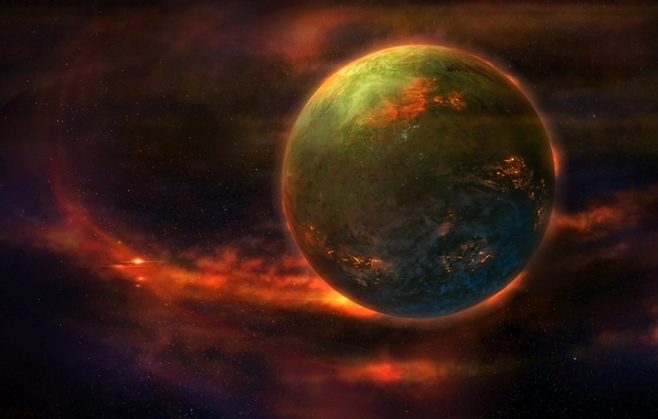 Картинка космос, фантастика, планета, арт, миры