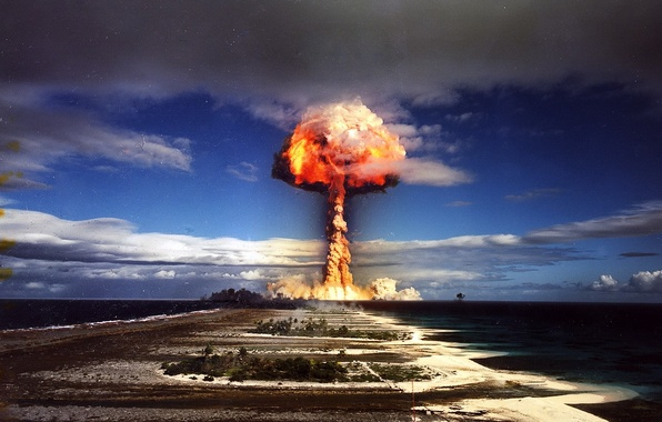 Картинка 156, цветное фото, ядерный взрыв