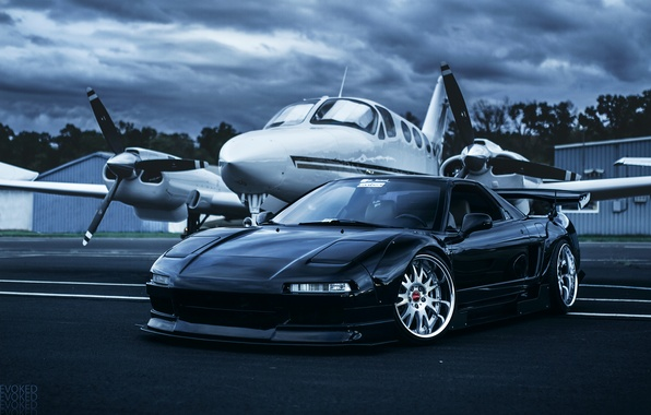 Картинка Honda, самолёт, front, Acura, NSX, Evoked Photography