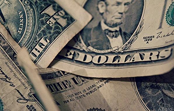 Картинка фон, Dollars, Macro