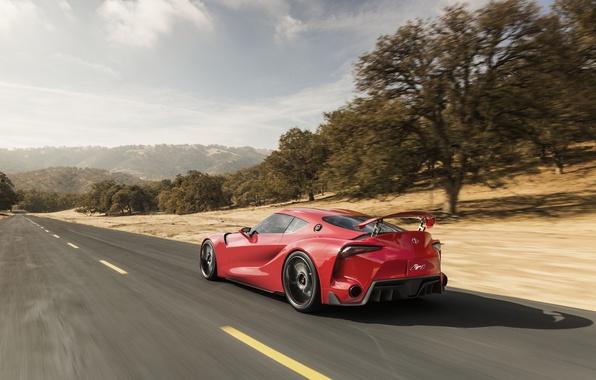 Картинка car, Concept, Toyota, road, wallpapers, speed, nice, FT-1