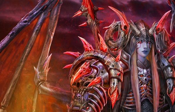 Картинка крылья, демон, тату, арт, рога, парень