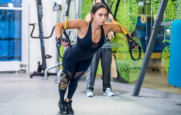 Картинка brunette, workout, fitness, pilates