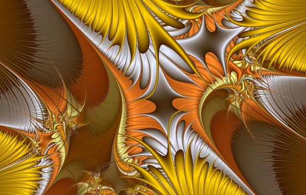 Картинка линии, узор, цвет, фрактал, хаос
