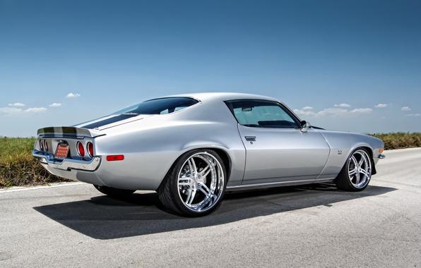 Картинка тюнинг, muscle car, Chevrolet Camaro, шевролет