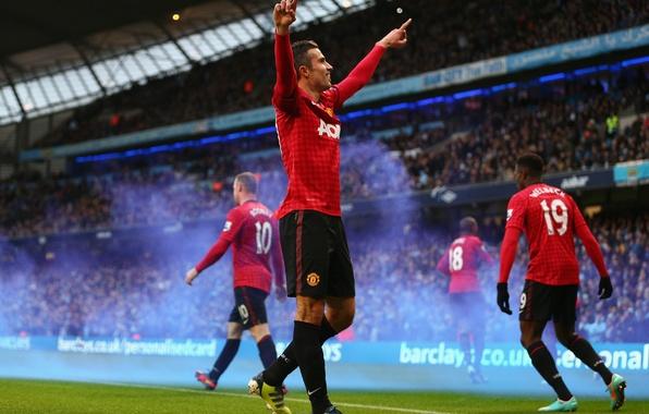 Картинка Спорт, Футбол, Football, Манчестер Юнайтед, Гол, Robin van Persie, Робин ван Перси, Manchester United Football …