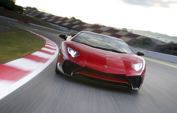 Картинка авто, Lamborghini, суперкар, передок, Aventador, ламборгини, LP 750-4, Superveloce