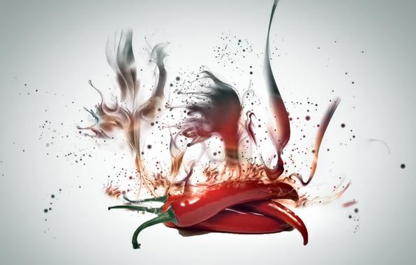 Картинка огонь, еда, перец