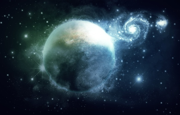 Картинка космос, звезды, планета, галактика, space, 1920x1200, stars, planet, galaxy