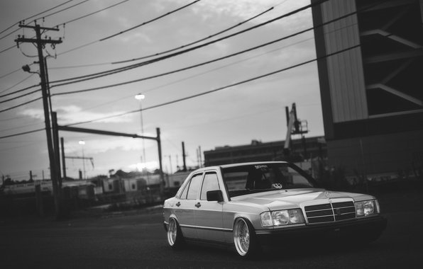Картинка Mercedes, mercedes benz, low, stance, 190, dropped