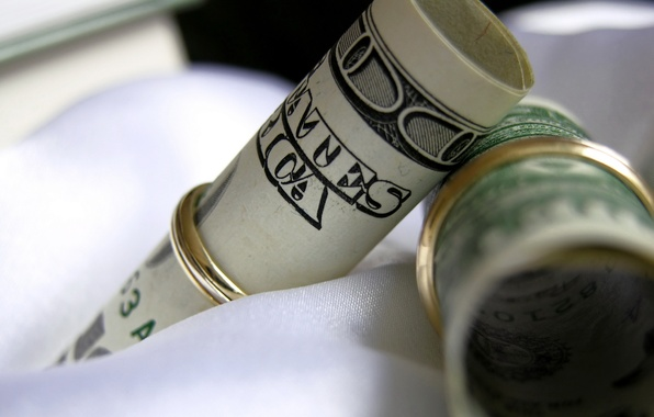 Картинка макро, деньги, кольца, доллары