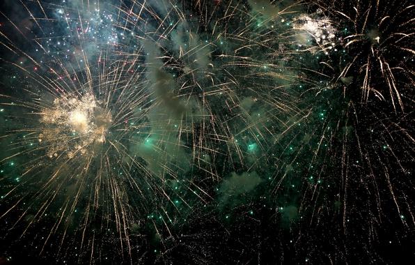 Картинка ночь, праздник, салют, фейерверк