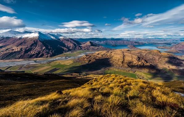 Картинка горы, озеро, вид, New Zealand, Wanaka