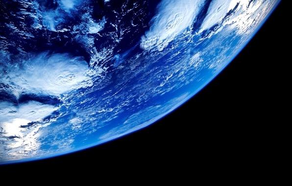 Картинка космос, облака, земля, планета, орбита, Earth, океаны, Our planet