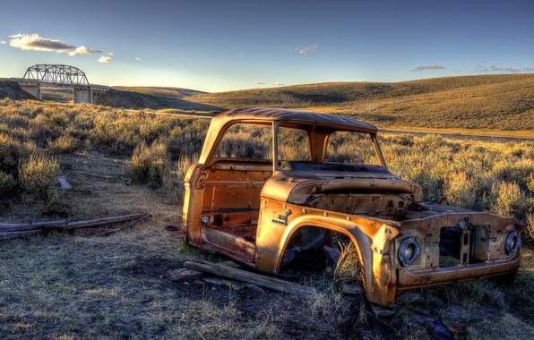 Картинка машина, пейзаж, United States, Montana, Monida