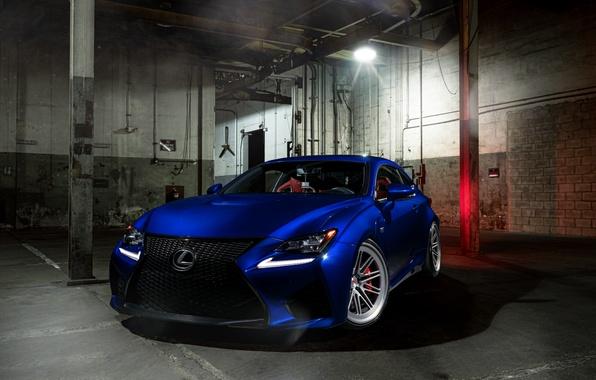 Картинка Lexus, Light, Blue, Front, Vossen, Wheels, RCF, Corors