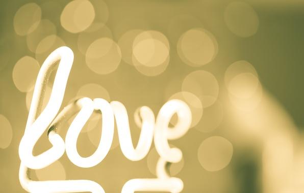 Картинка абстракция, стиль, Love, Любовь, abstract, style, боке, bokeh