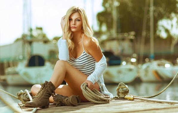 Картинка Girl, Beautiful, Model, Beach, Water, Woman, Strobist, Neutral, Density, Yongnuo
