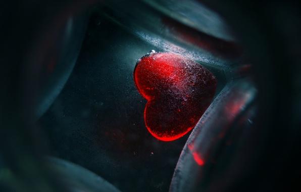 Картинка настроение, красное, сердце, wallpapers, стеклянное, My life inside your heart