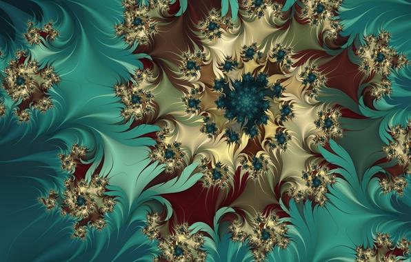 Картинка цветок, фрактал, бутоны