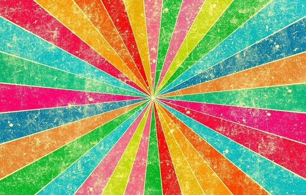 Картинка лучи, линии, полосы, обои, цвет, радуга