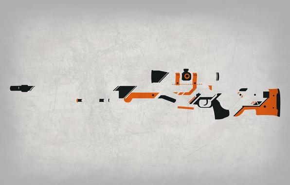 Картинка Фон, Оружие, Gun, Valve, Counter Strike, Steam, Skin, Weapon, CS:GO, Global Offensive, Workshop, Asiimov, Awp