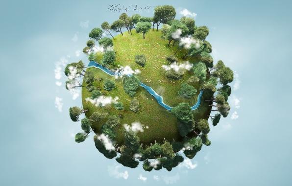 Картинка деревья, природа, земля, планета