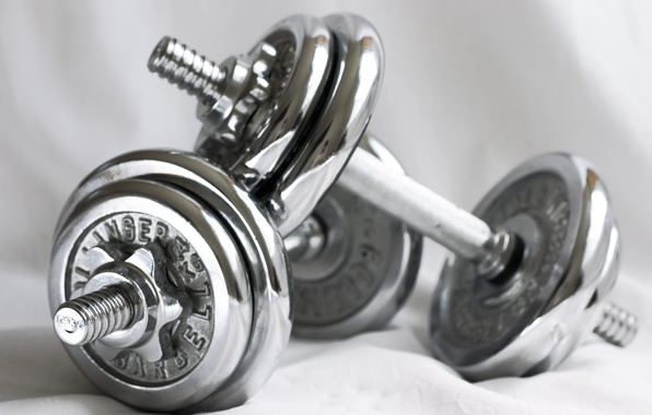 Картинка metal, fitness, gym, dumbbell