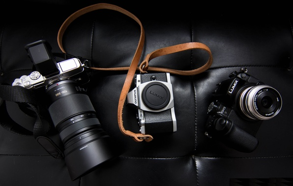 Картинка кожа, фотоаппарат, ремень, olympus, lumix