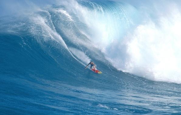 Картинка океан, волна, серфер