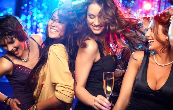 Фото обои dance, women, party