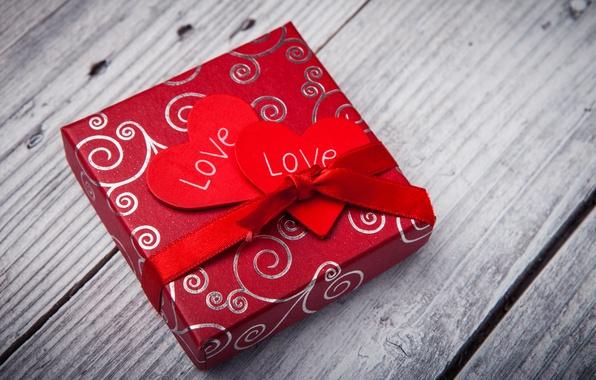 Картинка любовь, подарок, романтика, сердце, love, heart, romantic, Valentine's Day, gift