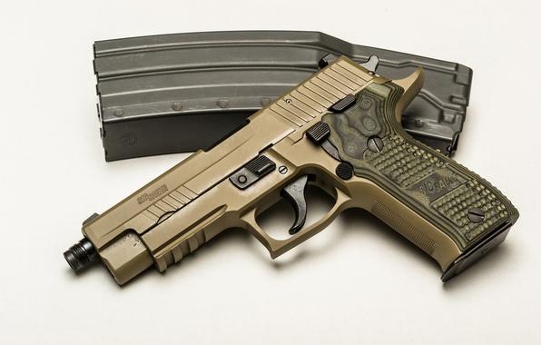 Картинка пистолет, оружие, фон, SIG-Sauer, P226