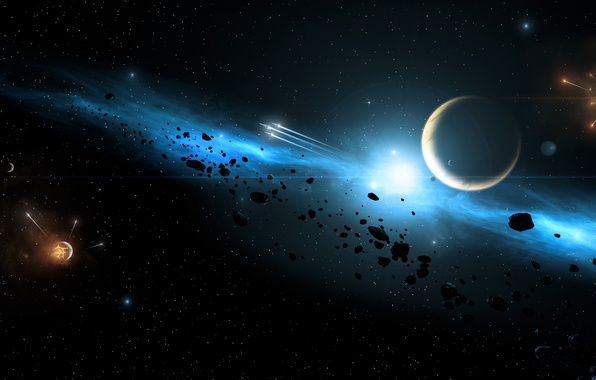 Картинка Галактика, Звезды, Планета, Космос, Space, Galaxy