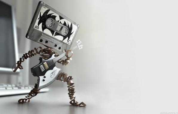 Картинка музыка, драйв, касета, гитара