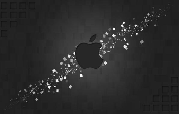 Картинка apple, логотип, mac, фигуры, бренд, hi-tech, прямоугольники