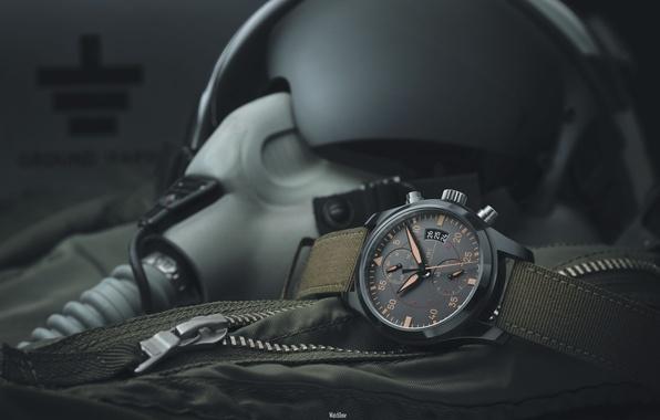 Картинка часы, шлем, пилот, flying, military, военный, watch, pilot, helmet, летный