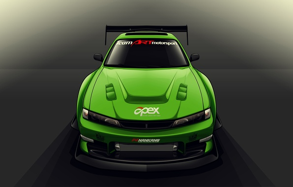 Картинка Silvia, Nissan, S14, Drift Spec Vector, by Edcgraphic