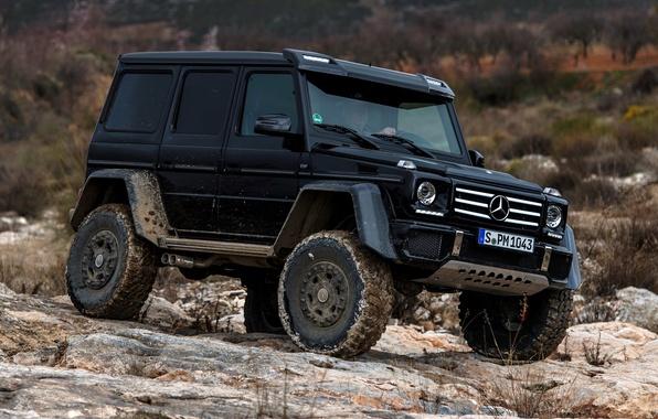 Картинка Concept, камни, черный, Mercedes-Benz, мерседес, брабус, 4x4, амг, бенц, W463, 2015, G 500